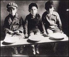 Jewish children in the Warsaw ghetto, Poland. Warsaw ghetto was the biggest and worst ghetto during WWII