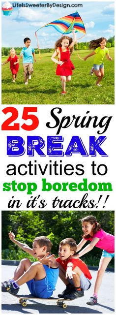 Spring break ideas to keep boredom at bay! These spring break activities are fun for kids and the whole family. Keep the children busy during spring break this year! Spring Break Party, Spring Break For Kids, Spring Break Trips, Summer Fun, Summer Games, Outdoor Activities For Kids, Spring Activities, Family Activities, Stem Activities
