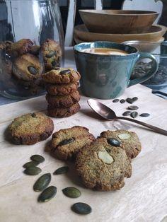 PASTU domov: Výborné bezlepkové sušenky z dýňové mouky Pavlova, Stuffed Mushrooms, Muffin, Vegetarian, Vegan, Mugs, Vegetables, Breakfast, Tableware