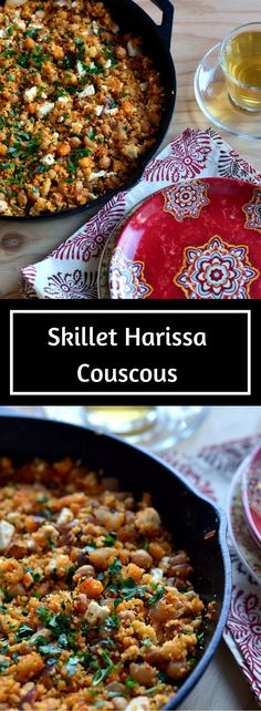 ... meal of Skillet Harissa Couscous with Chickpeas, Spinach and Feta