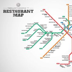 Your first-ever Boston T restaurant map. Find the best places to eat while riding the T.