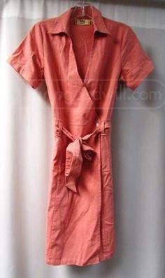shopgoodwill.com: Vtg MG Originals Wrap-Around V-Neck Dress - Sz 8