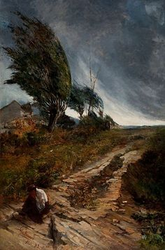 Ventania (The Gale)     Antônio Parreiras, 1888