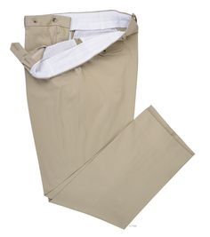 Luxire dress pant constructed in Light Khaki Soft Cotton Chinos: http://custom.luxire.com/products/light_khaki_soft_cotton_chinos  Consists of front slant pockets and standard extended closure.