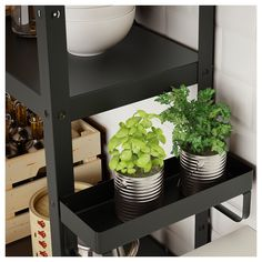 IKEA - BROR, Add-on shelf, black, Easy to attach and remove. Transforms an unused area into a practical storage space for the small things you want to have close at hand. Only for indoor use. Concrete Bags, Decor Around Tv, Decorative Lines, Hobby Room, Plant Shelves, Galvanized Steel, Paint Cans, Industrial Furniture, Diy Furniture