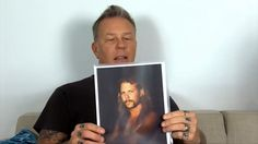 James Hetfield reacts to celebrities with images of Metallica Nov 17th 1...
