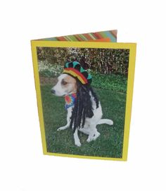 Hippie Greeting Card Dog Greeting Card Dog Photo by Lillyzcardz, $4.00