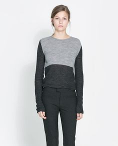 TWO-TONE SWEATER from Zara
