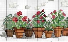 Punto de Cruz GRATIS: Flores
