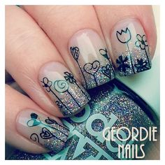 Instagram photo by Geordie Nails • Mar 10, 2016 at 1:06pm UTC ❤ liked on Polyvore featuring beauty products and nail care