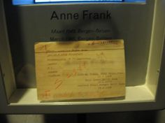 Anne Franks id card from Bergen-Belsen