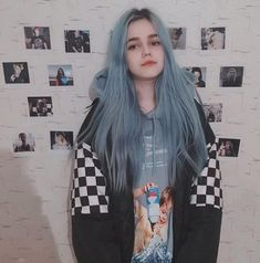 Preferred Human Blue Hair Wig Hair Straight Hair Wig Lace Front Wigs for women in 2020 Hair Inspo, Hair Inspiration, Blue Hair Aesthetic, Grunge Hair, Grunge Makeup, Dye My Hair, Half Dyed Hair, Cool Hair Color, Grunge Outfits