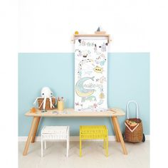 Olli Ella Playpa rolls are the perfect colouring in experience! Available here in Ocean. Ikea, Oui Oui, Boutique Design, Creative Play, Large Furniture, Painting For Kids, Storage Baskets, Baby Room, Playroom
