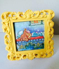 Princess Arora - Sleeping Beauty - Disney - Framed Print - Vintage Little Golden Book on Etsy, $6.50