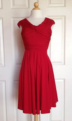 Red cocktail dress size 0