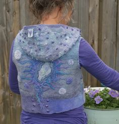 Short felted jacket in lovely shades of purple