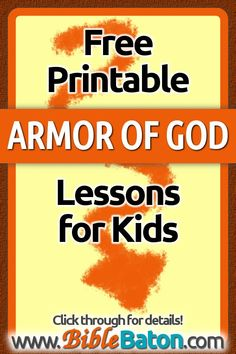 Free Armor of God Bible Lessons for Kids Bible Study Guide, Bible Study Tools, Study Tips, Bible Lessons For Kids, Bible For Kids, Armor Of God Lesson, Scripture Memorization, Learning Activities, Teaching Kids