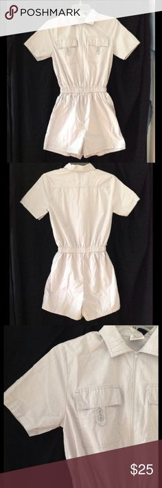 Vintage 70s/80s SEARS romper Very cute!  Very light gray color.  Zips up the front.  Has 4 pockets total.  Waist is elastic and measures approx 22-24 inches.  SEARS brand. Vintage Other