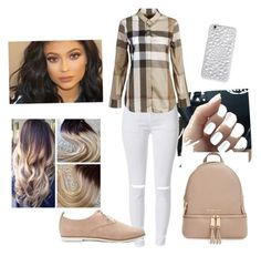 """Stripes"" by amourb on Polyvore featuring Burberry, Forever 21, MICHAEL Michael Kors and Felony Case"