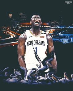 Zion Williamson gets drafted overall in the 2019 NBA Draft by the New Orleans Pelicans. Will Zion be an All-Star his rookie season? Pelicans Basketball, Basketball Leagues, Sports Basketball, Basketball Players, Best Nba Players, Basketball Background, Hakeem Olajuwon, King Lebron, Nba Pictures