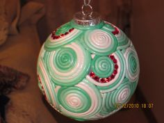 polmyer clay ornaments | Polymer Clay Christmas Ornament with Swarovski crystals