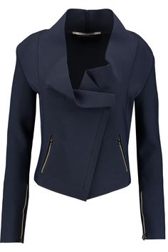 ROLAND MOURET Solar draped stretch-knit jacket. #rolandmouret #cloth #jacket