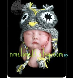 Check out this item in my Etsy shop https://www.etsy.com/listing/194748645/newborn-crochet-owl-hat-newborn