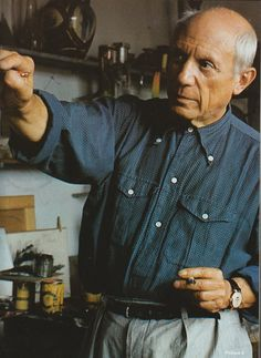 Alexander Liberman - The Artists in His Studio (Pablo Picasso) (1988)