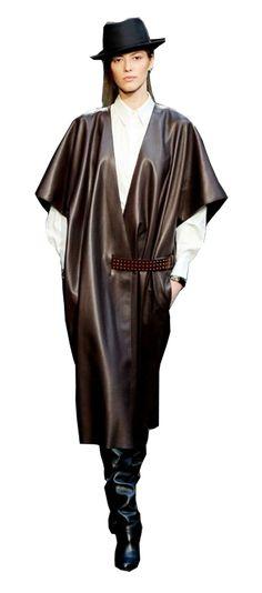 hermes brown & black leather belted vest