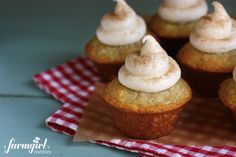 Banana Muffins with Cream Cheese Kisses
