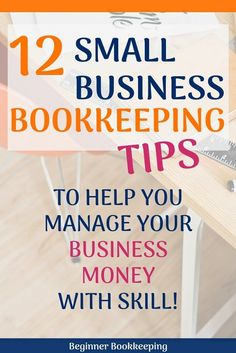 12 small business bookkeeping tips to help you manage business money and accounts with skill including banking personal expenses software paperwork handling cash reports. Small Business Bookkeeping, Bookkeeping And Accounting, Small Business Accounting, Business Education, Online Bookkeeping, Bookkeeping Training, Bookkeeping Software, Lawn Care Business, Business Money