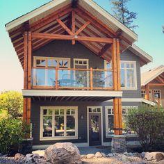 Predator Ridge Resort Vernon, BC (Back View) Vernon Bc, Predator, Houses, Cabin, House Styles, Wedding, Home Decor, Homes, Valentines Day Weddings