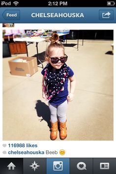 Chelsea Houska's daughter Aubree. Little girl outfit idea!