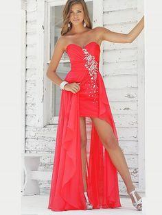 (NO.0257767)2012 Style A-line Sweetheart  Rhinestone Sleeveless Floor-length Chiffon Prom Dresses / Evening Dresses