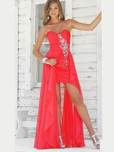 (NO.0257767)2012 Style A-line Sweetheart  Rhinestone Sleeveless Floor-length Chiffon Prom Dresses / Evening Dresses