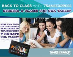 Regresa a clases con una tablet nueva. #TransExpressSV