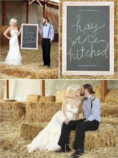 """Would you take a trip to Michelle's farm to get some photos like this?  Change the sign to read """"Thank you"""" and use for your thank yous?"""