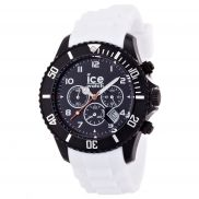 Ice watch chronograph black and white big silicone watch pepkick.com Ice Watch, Rubber Watches, Crystals Minerals, Black Crystals, Casio Watch, Stainless Steel Case, Chronograph, Watches For Men, Quartz