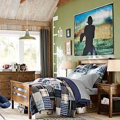 Football Theme Bedroom, Football Rooms, Football Wall, Football Field, Football Season, Boys Bedroom Furniture, Bedroom Decor, Bedroom Ideas, Furniture Plans