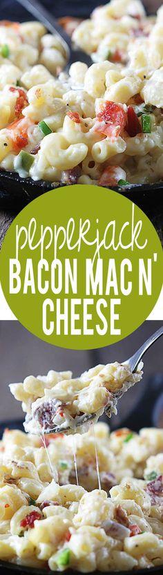 Pepperjack Bacon Mac n' Cheese | Creme de la Crumb