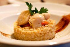 risotto cu scoici saint jacques Restaurant Sabres