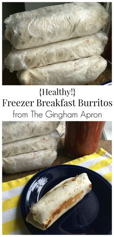 Healthy Freezer Breakfast Burritos- make your mornings so much easier by filling your freezer up with these delicious, healthy burritos.