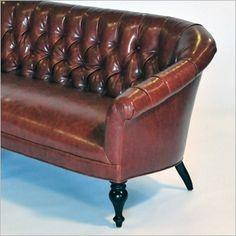 fairmont sofa - brown crackle vinyl sofa