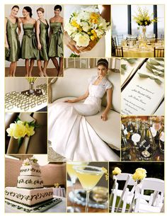 Green and yellow wedding inspiration