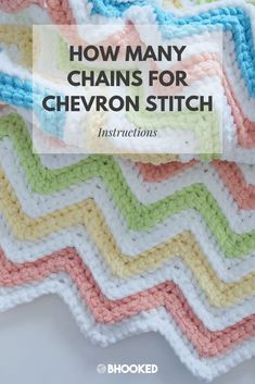 How to Calculate Foundation Chain for Chevron Stitches How to Calculate Foundation Chain for Chevron Stitches,*DIY NEEDLEWORK ►CROCHET◄ How to figure out how many chains to make for your chevron crochet project. Chevron Crochet Patterns, Crochet Stitches Patterns, Crochet Designs, Chevron Afghan, Crochet Ripple Afghan, Baby Blanket Crochet, Chevron Baby Blankets, Crochet For Beginners Blanket, Crochet Basics