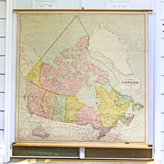 Mid-Century Canada Map now featured on Fab.