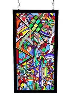 Art du vitrail par KozmaGlassArt sur Etsy