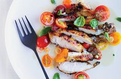 Grilled Chicken with Asian Marinated Tomatoes