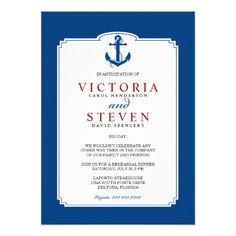 Nautical Rehearsal Dinner Invitation Template