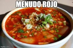 Menudo Rojo Recipe from Authentic Mexican Kitchen Authentic Mexican Recipes, Menudo Recipe Authentic, Mexican Food Recipes, Mexican Stew, Mexican Dishes, Mexican Meals, Menudo Rojo Recipe, Tripe Recipes, Food Porn